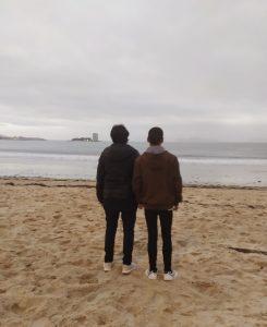 Chicos en playa