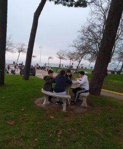 Chicos en parque