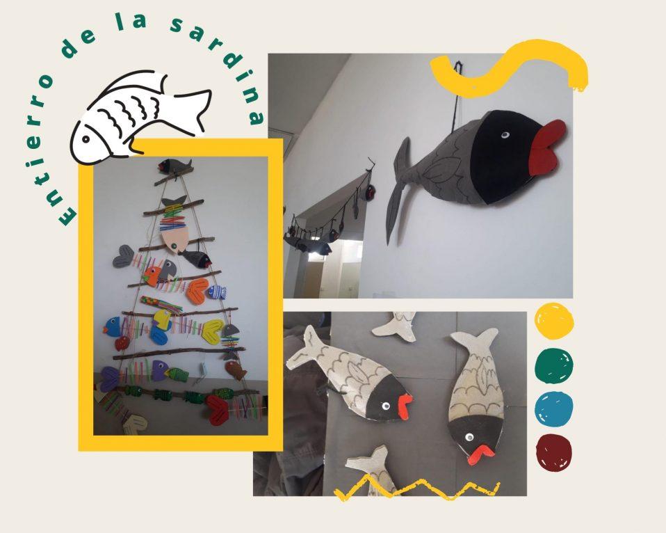 Collague de fotos de sardinas